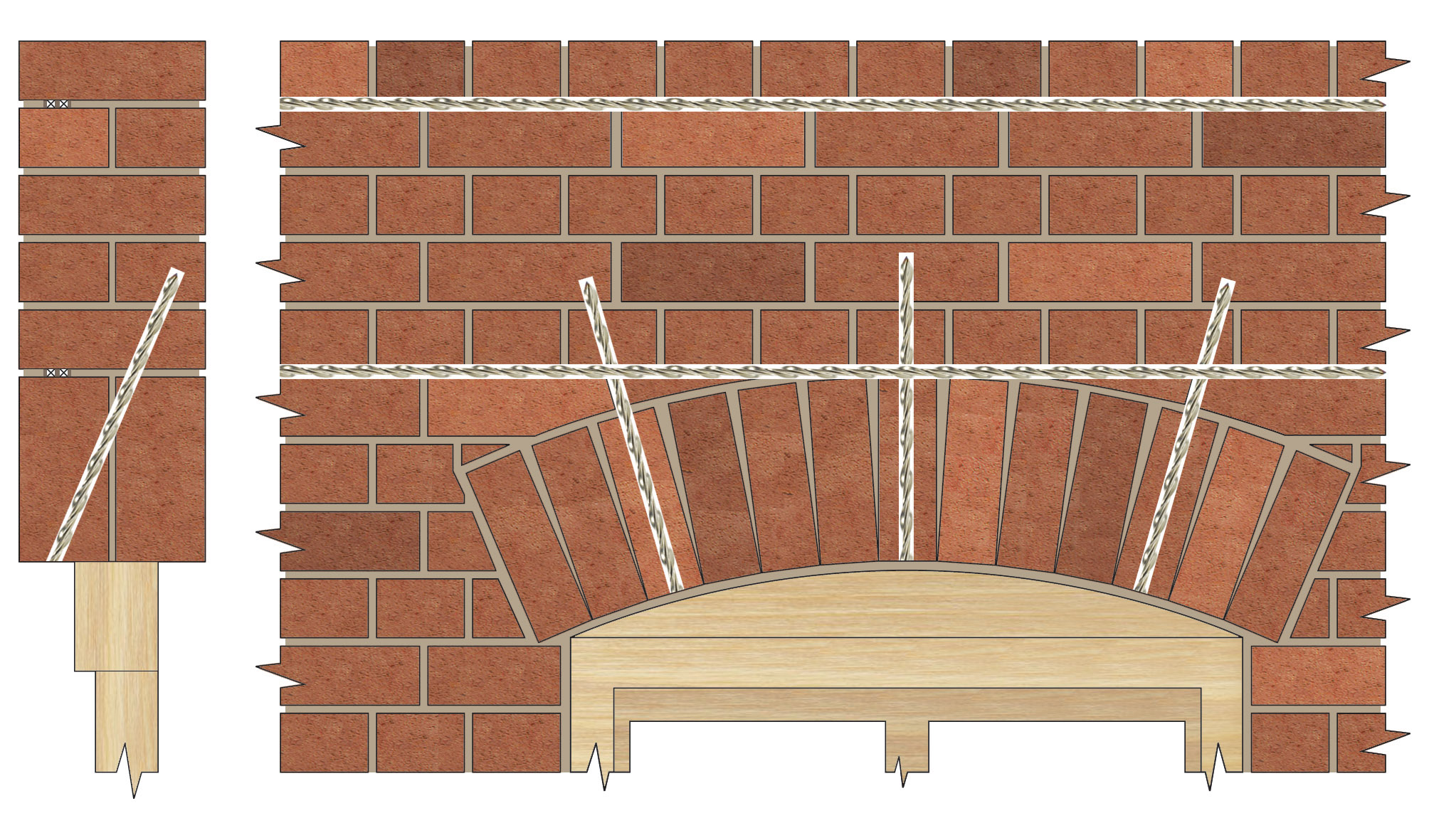 Applications Repairing Brick Arch Lintels Helifix